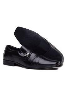 Sapato Preto Social Festa Confortável E Estiloso Preto