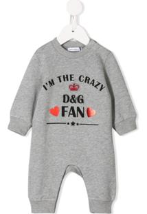 Dolce & Gabbana Kids Body I'M The Crazy Fan - Cinza