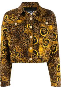 Versace Jeans Couture Jaqueta Animal Print - Amarelo