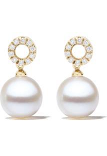 Yoko London Par De Brincos De Ouro Branco 18Kt Com Pérola E Diamante - 6