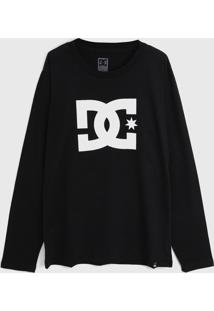Camiseta Dc Shoes Infantil Star Preta