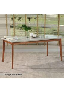 Mesa De Jantar Julien- Off White & Natural- 78X180X8Provincia