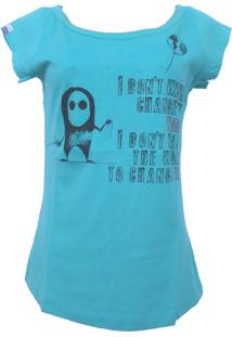 Camiseta C1C I Don´T Wanna Turquesa