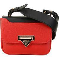 a78a09ca4 Bolsa Couro Carmim Mini Bag Silvana Transversal Feminina -  Feminino-Vermelho+Preto