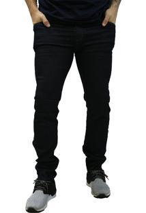 Calça Jeans Elite Lux Slim Reta Azul Escuro