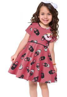 Vestido Infantil Kyly Vermelho