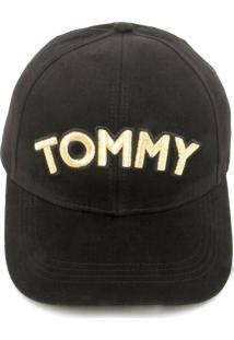 c2c44dd41a575 Boné Tommy Hilfiger Strapback Logo Preto
