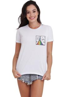 Camiseta Basica Joss Lgbt Two Faces Branca - Kanui
