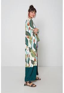 Kimono Oh,Boy! Garden Feminina - Feminino-Off White