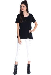 Calça Jeans Urban96 Off White Cropped