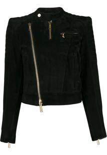 Dsquared2 Cropped Biker Jacket - Preto