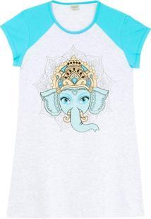Camisola Lua Encantada Algodão Elefante Mandala