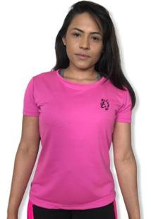 Camiseta Feminina Lobo Sport Dry Fit - Feminino-Pink