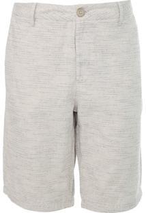 Bermuda Calvin Klein Chino Listrada Off-White