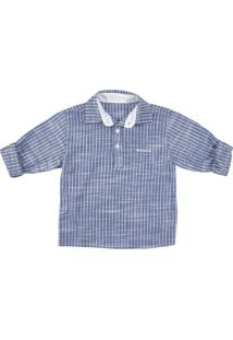 Camisa Look Jeans Bata Azul - Azul - Menino - Dafiti