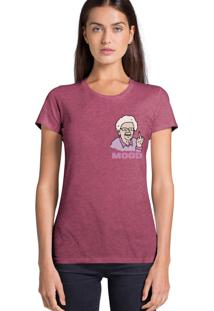 Camiseta Feminina Joss Modd Bordo