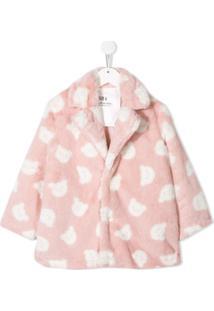 Caroline Bosmans Kids Printed Teddy Coat - Rosa