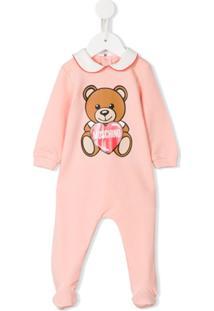 Moschino Kids Pijama Com Estampa De Urso - Rosa