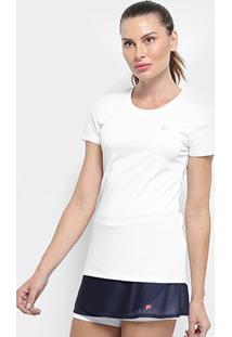 Camiseta Fila Floating F Ii Feminina - Feminino-Branco