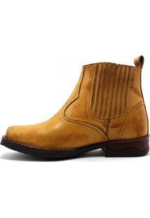 Botina Texana Country Rodeio Boots Wisk 529 - Bege - Masculino - Dafiti