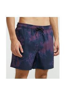 Bermuda De Banho Estampa Tie Dye   Ripping   Roxo   M