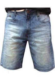 Bermuda Hocks Jeans Masculina - Masculino-Azul