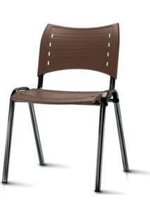 Cadeira Iso Assento Marrom Base Preta - 54029 - Sun House
