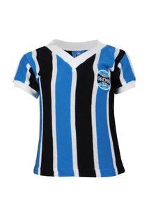 Camisa Retro Para Bebê Grêmio Libertadores Tricolor Número 7