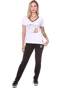 Camiseta Nba Gola V Advan Los Angeles Lakers Branca