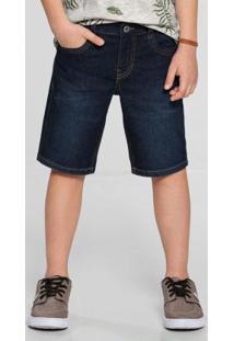 Bermuda Jeans Com Elastano Jeans