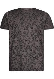 Camisetas Khelf Camiseta Masculina Caveiras Grafite