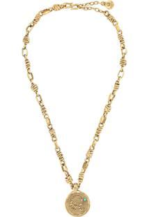 Goossens Talisman Scorpio Medal Necklace - Dourado