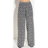 0d417a01b Calça Pantalona Quintess Com Elástico Lenço