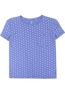 Camiseta Gap Bolso Feminina - Feminino-Azul