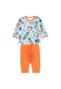 Pijama Masculino Laranja Cool Dude Kappes