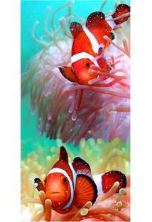 Toalha De Praia Tow Red Fishs- Verde Água & Laranja-Buettner