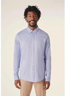 Camisa Pf Ml Oxford Pima Resista A Agua Reserva Masculino - Masculino-Azul