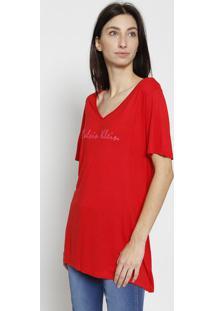 "Camiseta ""Calvin Kleinâ®"" - Vermelha & Rosacalvin Klein"