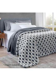 Edredom Islândia Home Design King Size- Cinza Escuro & Bcorttex