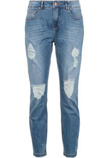 Amapô Calça Jeans Skinny Cropped - Azul
