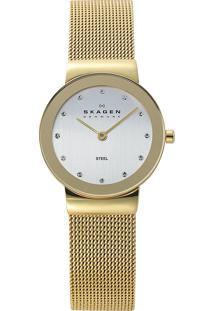 Relógio Analógico Skagen Feminino - 358Sggd/4Dn Dourado