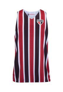Camiseta Regata Do São Paulo Smell - Masculina - Vermelho/Preto