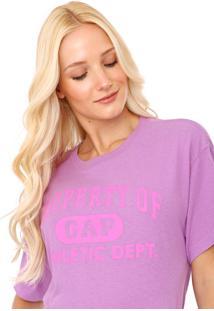 Camiseta Gap Estampada Roxa