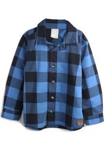 Camisa Hering Kids Menino Xadrez Azul