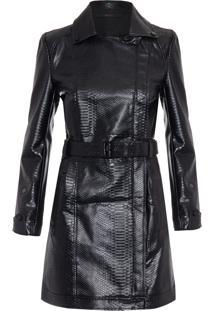 Casaco Feminino Trend Coat Like - Preto