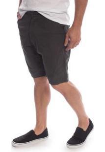 Bermuda Sarja Aleatory Flash Masculino - Masculino-Chumbo