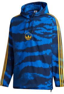 Jaqueta Adidas Zebra Aop Anora Azul