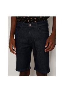 Bermuda Jeans Masculina Slim Azul Escuro