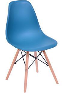 Cadeira Eames Dkr- Azul Petróleo & Madeira- 80,5X46,Or Design