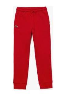Calça Infantil Lacoste Sport Masculina - Masculino-Vermelho